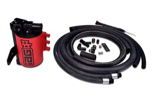 IAG Performance IAG-ENG-7251RD Red Competition Series Air / Oil Separator (AOS) 2008-14 Subaru Impreza WRX & 2008-18 STI