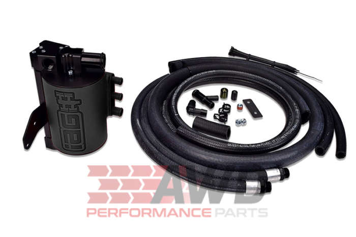 IAG Performance IAG-ENG-7251BK Black Competition Series Air / Oil Separator (AOS) Subaru Impreza 2008-14 WRX & 2008-18 STI